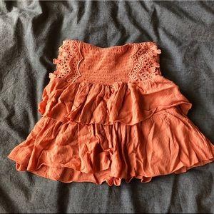 Coral summer skirt